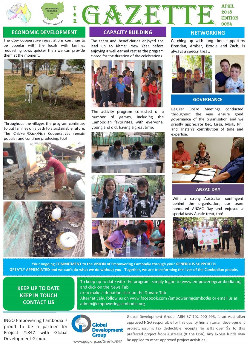EC Gazette 0054 April 2018