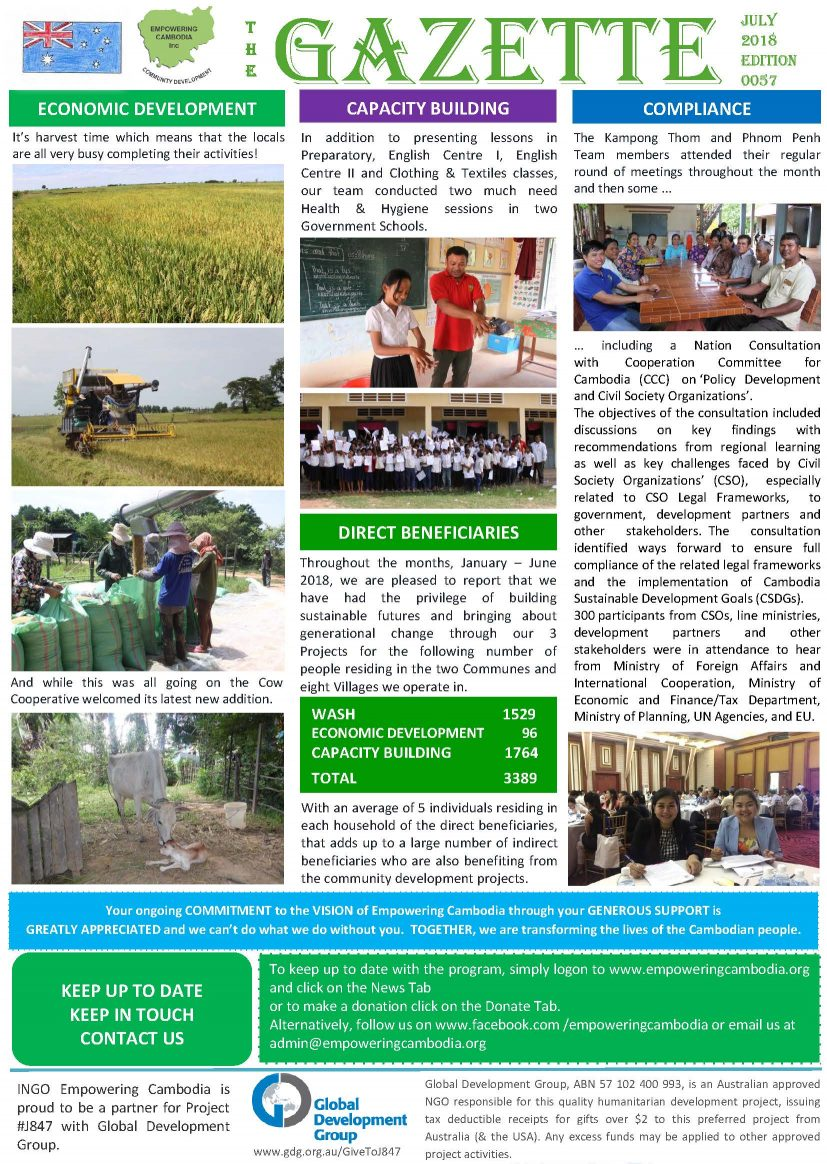 EC Gazette 0057 July 2018