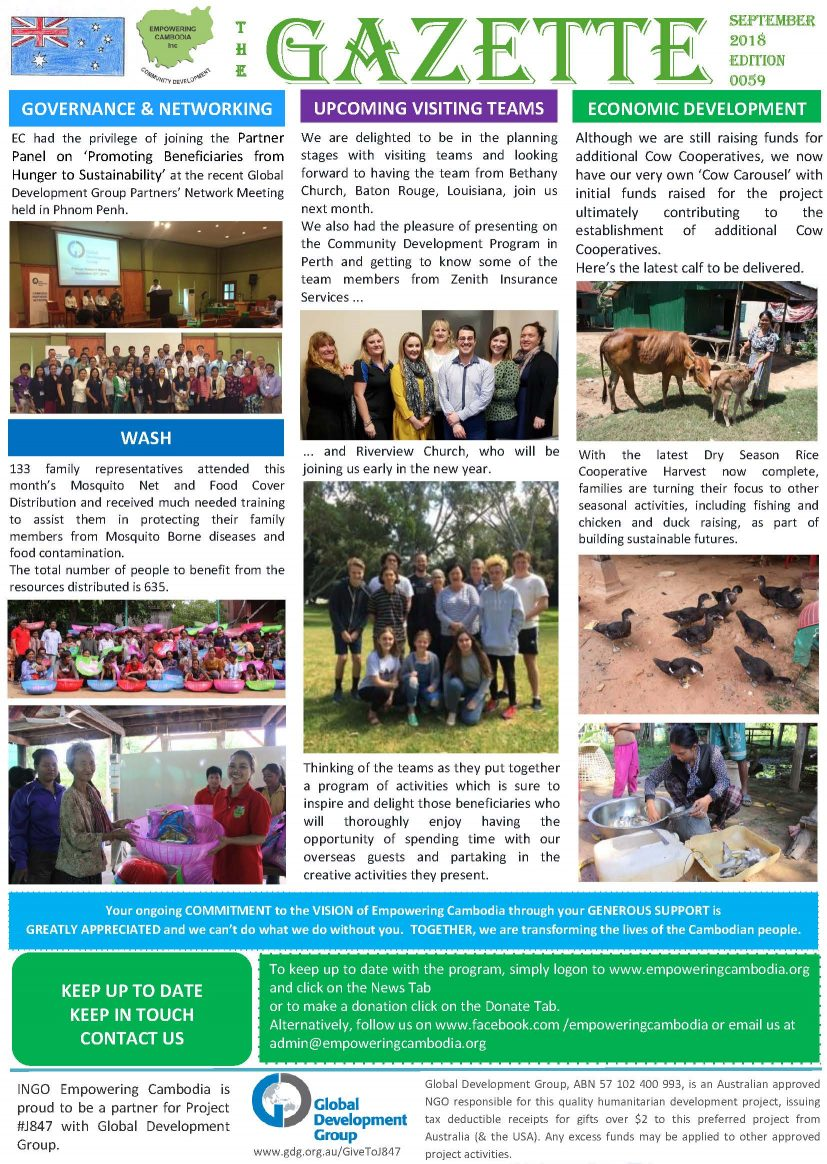 EC Gazette 0059 September 2018