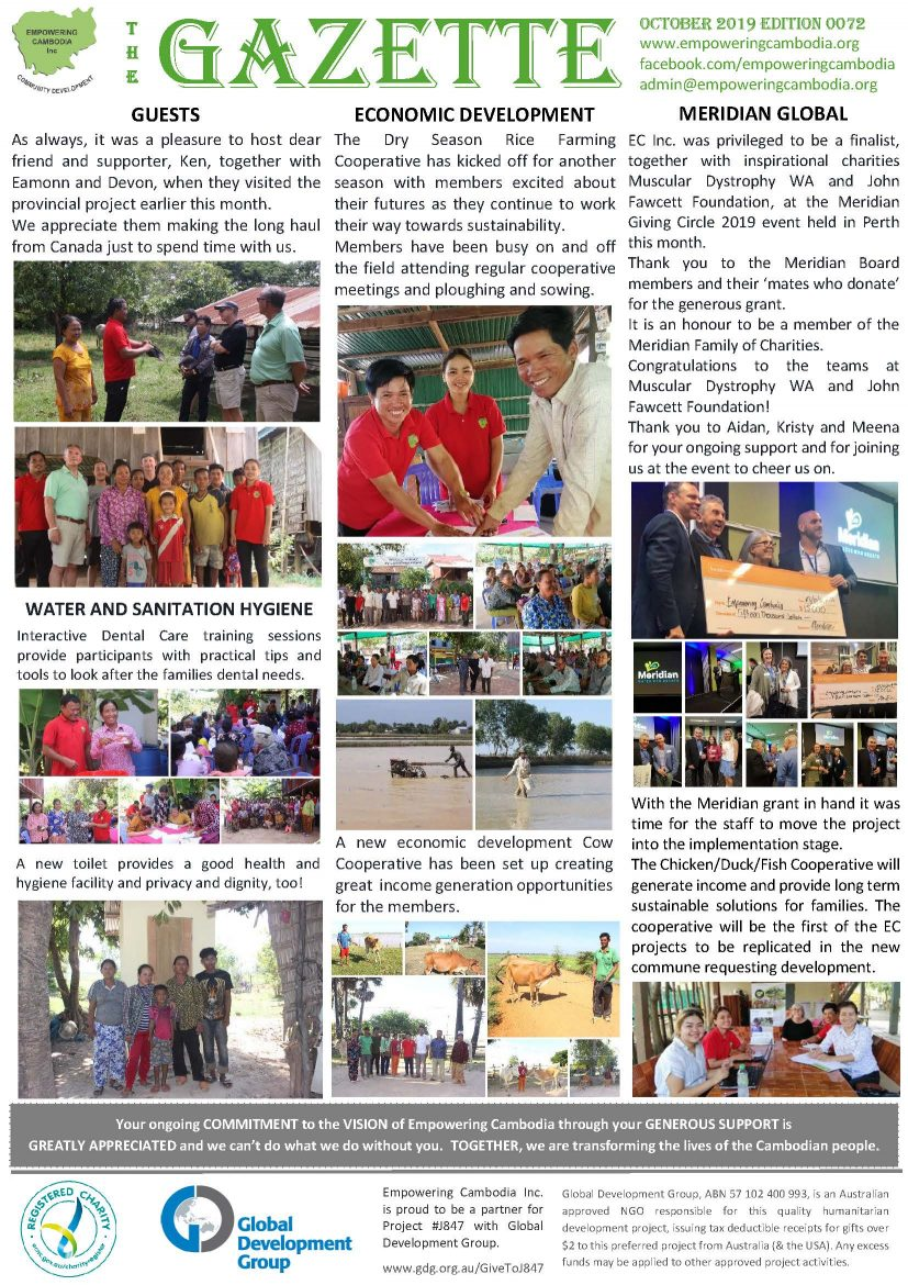 EC Gazette 0072 October 2019